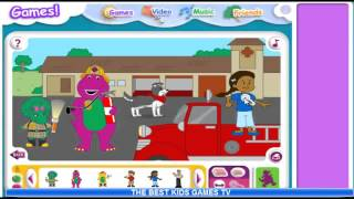Barney and Friends Lets Go To The Firehouse Video Gameplay Full Episode 1 clip0 February 2014