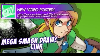 SPEED DRAWING - Mega Smash Draw Challenge - Link!