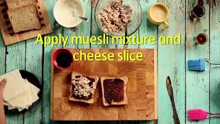 MUESLI TOSTADAS WITH CHOCOLATE SAUCE