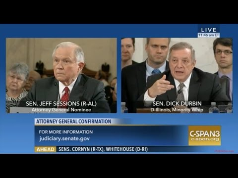 Illinois Sen Dick Durbin Grills Sen Sessions About Not Answering Him Even Though He DID