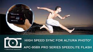 HSS Speedlite Flash for CANON Cameras | Professional TTL Model From Altura Photo® (APC-958X)