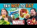 Try Not To Eat Challenge - Marvel Food | People Vs. Food