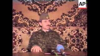 Chechnya - Dudayev Press Conference