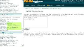 How to add MySQL access hosts in WHM