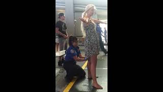 TSA pat down Sacramento international airport