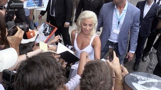 Lady Gaga and Bradley Cooper give some love to their fans in Venice during the Film Festival 2018