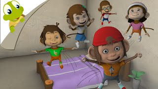 Five Little Monkeys 3D Nursery Rhyme