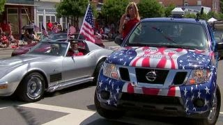 Proud American: On the parade route in Southport, NC