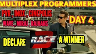 RACE 3 PASSES THE DAY 4 MONDAY TEST TOP MULTIPLEX PROGRAMMERS SAY ITS A WINNER | SALMAN KHAN