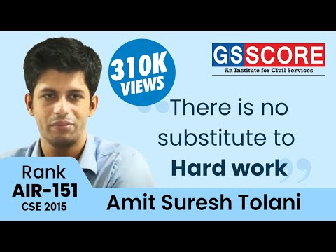 Importance of Prelims by Amit Tolani IAS Rank 151 in his 6th attempt