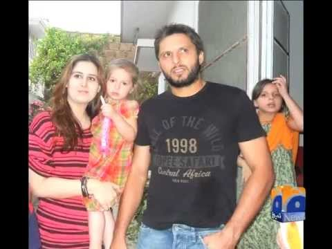 shahid afridi intervewe and talking about her wife by saif tareen