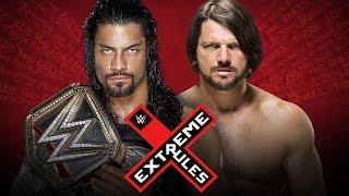 ROMAN REIGNS vs AJ STYLES - WWE EXTREME RULES 2016  [WWE 2K16]