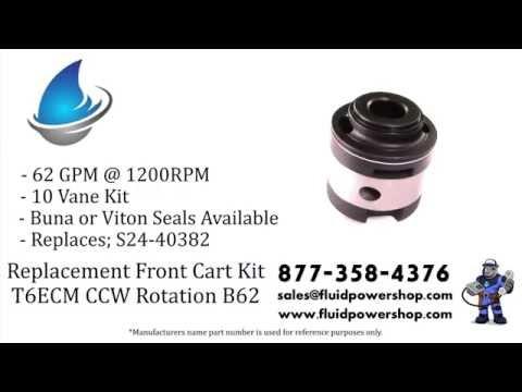 T6ECM F CCW B62 (T6C 003) Denison ® / Parker ® Style S24-40382 Replacement New Cartridge Kit
