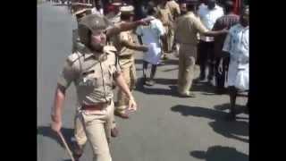 Kerala Police clash Hartal protest, Angamaly