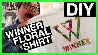 [KPOP DIY] WINNER Floral Logo Shirt