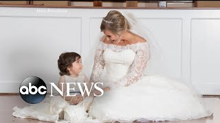 Toddler is flower girl at bone marrow donor