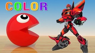 Learning Colors with 3D Pacman Transformers For Kids - Learn Colors For Kids!