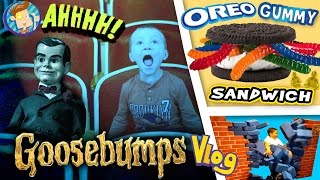 GOOSEBUMPS Movie / World's Largest Gummy Worm OREO Sandwich / Baby Names & More (FUNnel Vision Vlog)