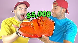 BUYING MY BEST FRIEND HIS $5,000 DREAM SHOES!!! RED OCTOBER YEEZY'S (SURPRISE DREAMS SHOES)