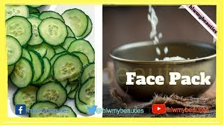 Cucumber And Rice Flour Face Pack