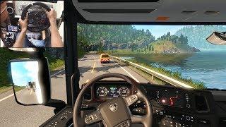 Scania S730 - 55T Special Transport   Euro Truck Simulator 2   Logitech g29 gameplay