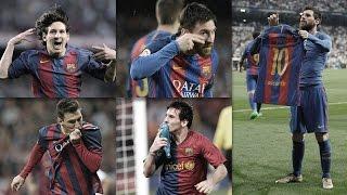 Leo Messi's best goal celebrations