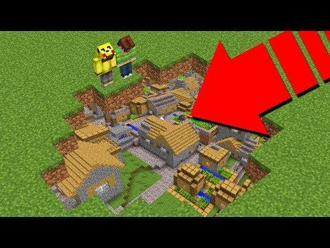 YER ALTINDA GİZLİ ŞEHİR BULDUM! - Minecraft