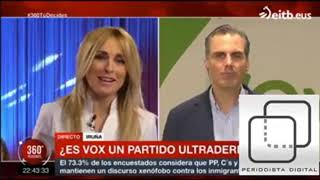 💥🔥👏Monumental repaso Ortega Smith (VOX) En ETB💥🔥👏