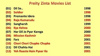 Preity Zinta Movies List