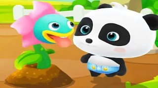 Learn Colours With Baby Panda PvZ Chomper Plant - Baby Panda Fun Color Learning Education Video!