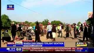 Warga Indramayu dan Ormas Islam Bentrok