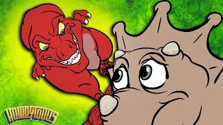 Volcano & Dinosaur Battles | Dinosaur Story Season 1 | Dinosaur Songs from Howdytoons
