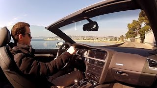 Audi S5 Cabriolet Sport Driving on French Coast Roads!