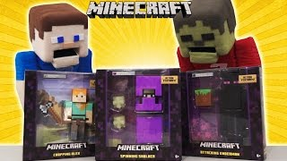 Minecraft Survival mode 6 inch Figures SERIES 4 Figures - Enderman, Spinning Shulker, Chopping Alex