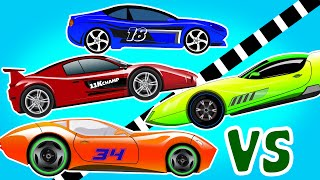 Sports Car | Racing Cars | Cars for Kids | Videos for Children