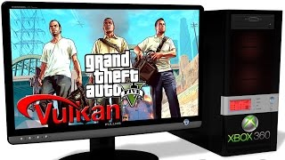 XENIA Xbox 360 Emulator - GTA 5 / Grand Theft Auto V (2013). Vulkan. Test run on PC #2