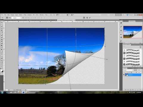 Как сделать в фотошопе загнутую бумагу