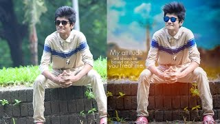 Photoshop Manipulation | Background mixing and effects tutorial