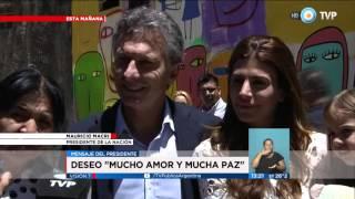Visión 7 - Macri visitó a Margarita Barrientos