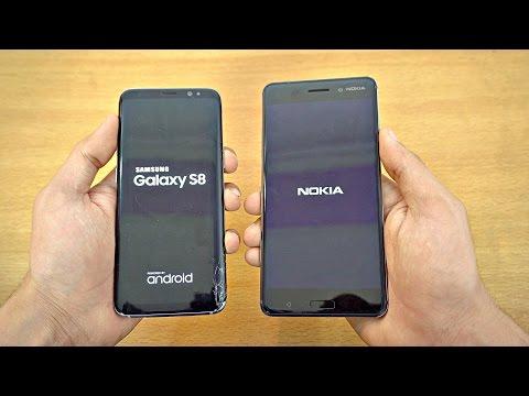 Samsung Galaxy S8 vs NOKIA 6 Speed Test 4K