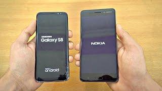 Samsung Galaxy S8 vs NOKIA 6 - Speed Test! (4K)