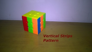 Rubik's Cube Pattern Series #5-Vertical Stripes Pattern