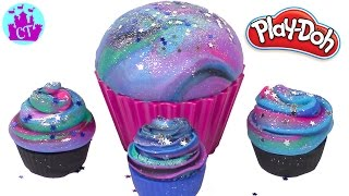 Play Doh Cake and Ice Cream Confections Cupcakes Galaxy Like a DIY Galaxy Slime Learning Diy Castle