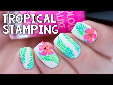 Xxx Mp4 EASY TROPICAL STAMPING Whats Up Nails Fields Of Flowers Stamping Plate 3gp Sex