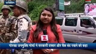 GJM calls for indefinite strike in Darjeeling  गोरखालैंड की मांग के लिए अनिश्चितकालीन हड़ताल शुरू