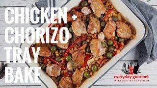 Chicken & Chorizo Tray Bake | Everyday Gourmet S7 E72