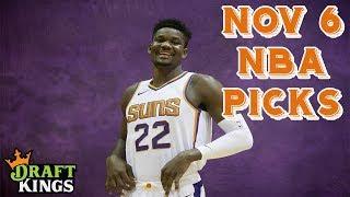 11/6/18 NBA DraftKings Picks