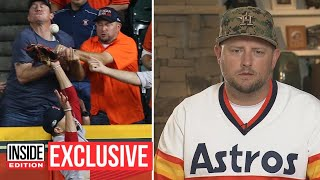 Astros Fan Involved in Controversial Play Says It's 'Absolutely Not' His Fault