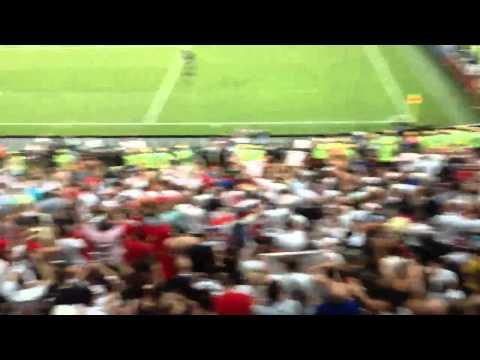 England fans singing Vindaloo after the match Ukraine vs England, EURO 2012