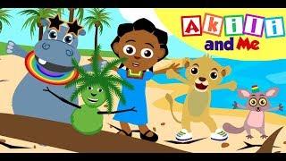 Nyimbo za Kujifunza Sehemu za Mwili | Akili and Me | Katuni za Watoto